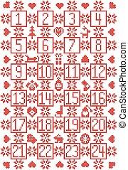escandinavo, calendario de advenimiento