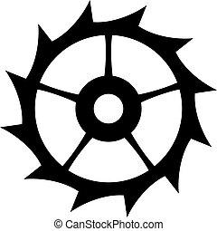 Escape clock wheel