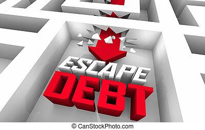 Escape Debt Trap Break Free Financial Bankruptcy Trouble 3d ...