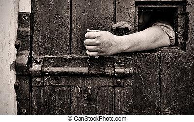 escape from captivity - escape arm reaches through jail ...