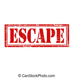 Escape-stamp - Grunge rubber stamp with word Escape,vector...