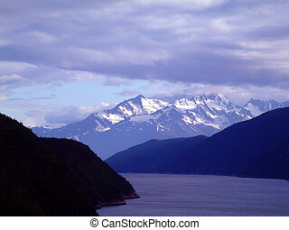 escape - View of the mountains at Skagway, Alaska.