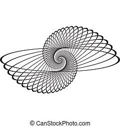 escargot, arabesque, élément