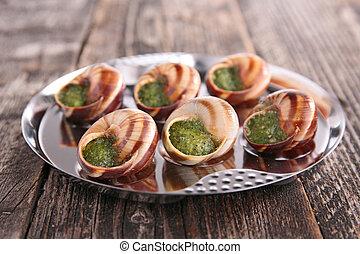 escargot, gastronomia francesa