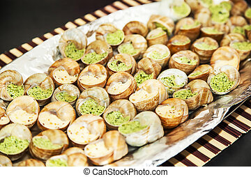 Escargots with garlic butter
