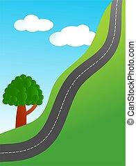 escarpado, camino