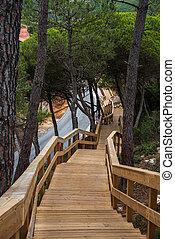 Escarpas footbridge in Torres Vedras Portugal