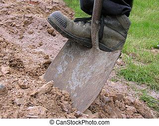 escavação, 2