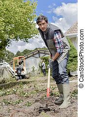 escavação, que, solo