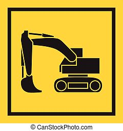 escavador, escavadora, pista, contínuo, crawler, trator, backhoe., lâmina, tem rodas