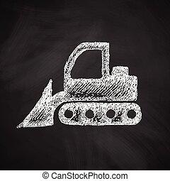 escavadora, ícone