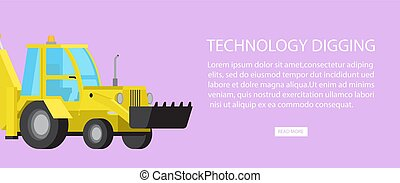 escavadora, industrial, cavador, maquinaria, transporte