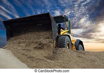 escavadora, no trabalho
