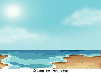 escena de la playa, costero, naturaleza
