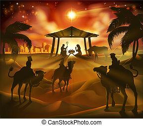 escena navidad, natividad