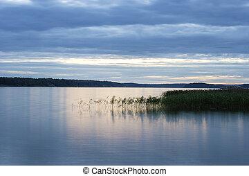 escena tranquila, lago