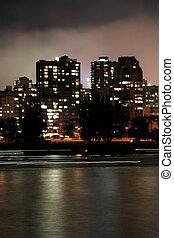 escena urbana, noche