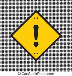 esclamazione, segno pericolo