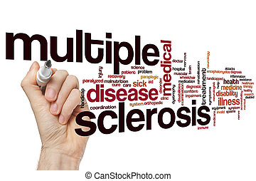 esclerose múltipla, palavra, nuvem