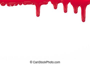 escoando, sangue