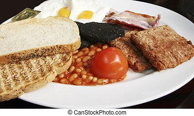 escocés, desayuno, lleno