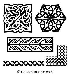 escocés, patrones, celta, irlandés