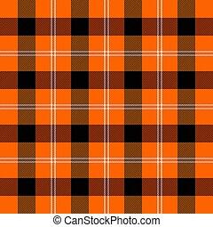 escocés, plano de fondo, jaula, plaid., halloween, tartán