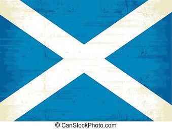 escocés, rasguñado, bandera