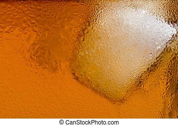 escocés, uno, cubito de hielo