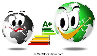 escoger, el, global, energía, ahorro