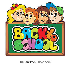 escola, 5, tema, costas