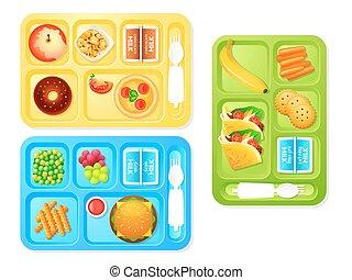 escola, almoços