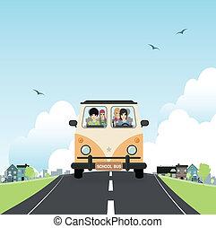 escola, bus.