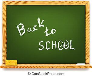 escola, chalkboard, costas