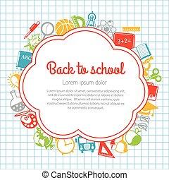 escola, coloridos, costas, fundo