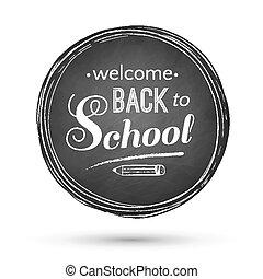 escola, costas, banner.