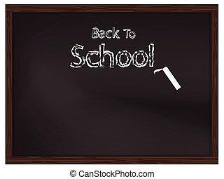 escola, costas, fundo, chalkboard