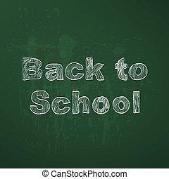 escola, costas, fundo