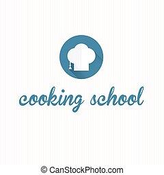 escola, cozinhar, símbolo, ícone