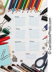 escola, diário, student's