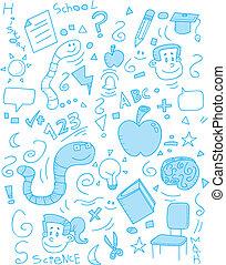 escola, doodle