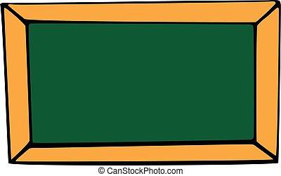 escola, isolado, tábua, fundo, branca, ícone