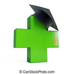 escola médica, boné graduação