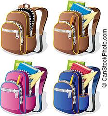escola, mochila