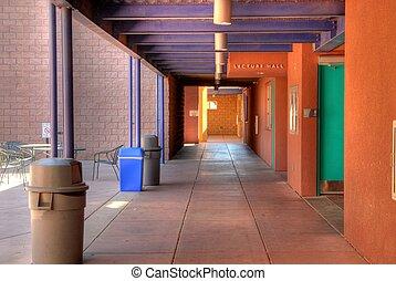 escola, modernos, campus