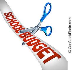 escola, orçamento corta