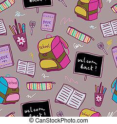 escola, pattern., costas