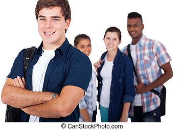 escola secundária, amigos, estudante