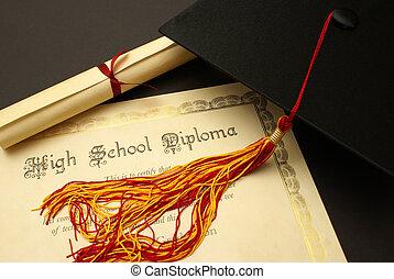 escola secundária, diploma