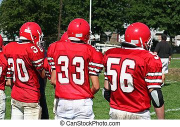 escola secundária, equipe futebol